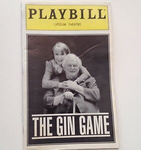 Playbill-The-Gin-Game-1997-Julie-Harris-Charles-Durning-Lyceum-Theatre-Broadway