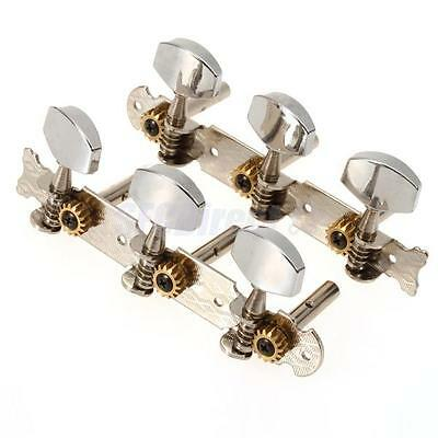Classical Guitar Tuning Pegs Machine Heads Tuners with Chrome Button Vintage
