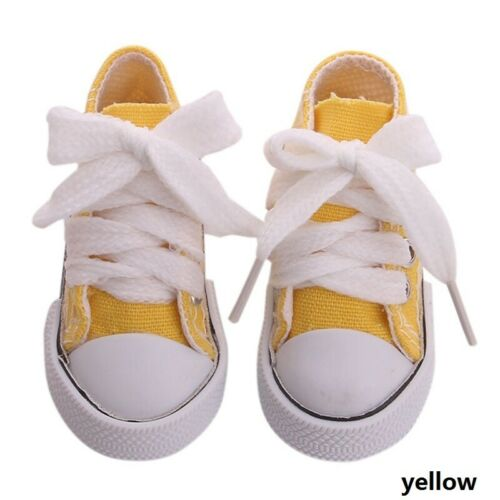 """Doll Clothes fits Girl Doll Hot 18/"""" Canvas Sneakers Gym Shoes Accessory useable"""