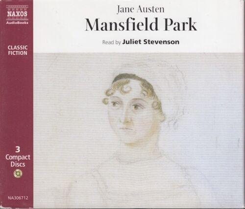 1 of 1 - Jane Austen Mansfield Park 3CD Audio Book Abridged Juliet Stevenson FASTPOST
