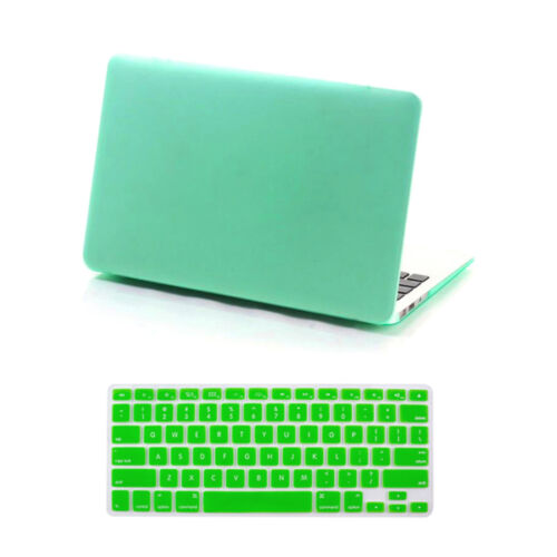"""Rubberized Hard Cover Case for Macbook Pro13//15/"""" Retina Air 11//13/""""+Keyboard Skin"""