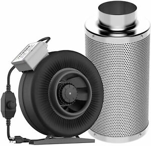 VIVOSUN-6-Inch-440-CFM-Inline-Duct-Fan-with-6-034-x-18-034-Carbon-Filter-Odor-Control