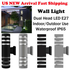 LED-Modern-Exterior-Wall-Light-Sconce-Dual-Head-Wall-Lamp-Fixture-Outdoor-Porch