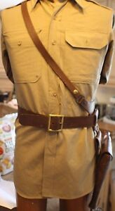 Details about WWII U  S  ARMY 1942 SAM BROWNE BELT COMPLETE WITH SUPER RARE