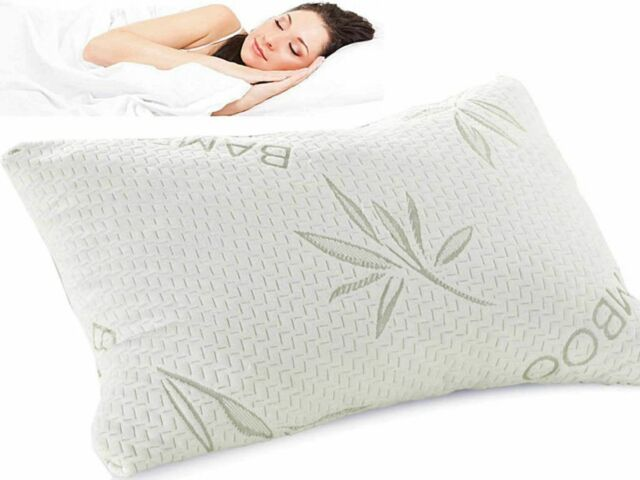 Bamboo Memory Foam Pillow Removable Cover EBay Simple Bamboo Covered Memory Foam Pillow