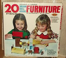 Arrow Dream Doll House Furniture Kit 1978 Pre-cut Wood to Assemble New