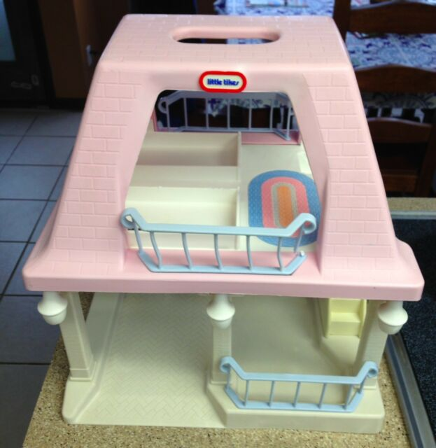 Captivating Vintage Little Tikes Doll House GRANDMAu0027s Pink Roof House Cottage