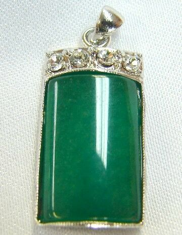 Chinese Jade Jewelry Pendant with Chain