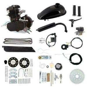 80cc 2 Stroke Motor Engine Kit Gas Motorized Bicycle Bike Motorized Bike Black