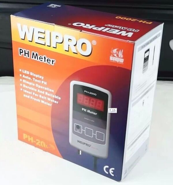 weipro PH2010 PH2010A Ph Meter and Value Controller with Probe