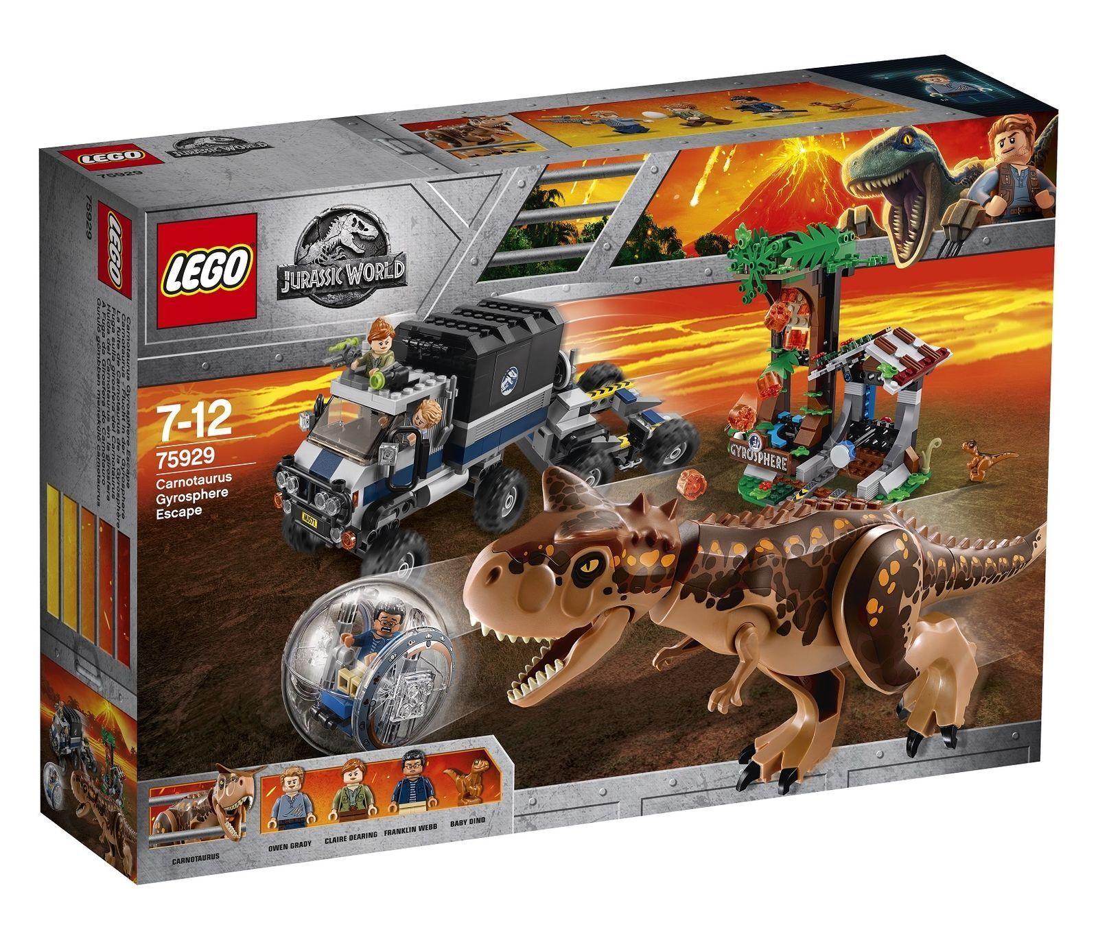 Lego 75929 Jurassic World Carnotaurus Gyrosphere Escape Building Set