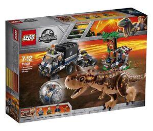 Lego 75929 Jurassic World Ensemble de bâtiment d'évasion Gyrosphere Carnotaurus