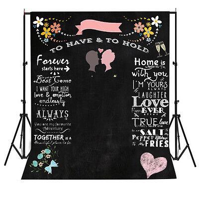Custom name Chalkboard Wedding Photography Backdrops Background Photo Props