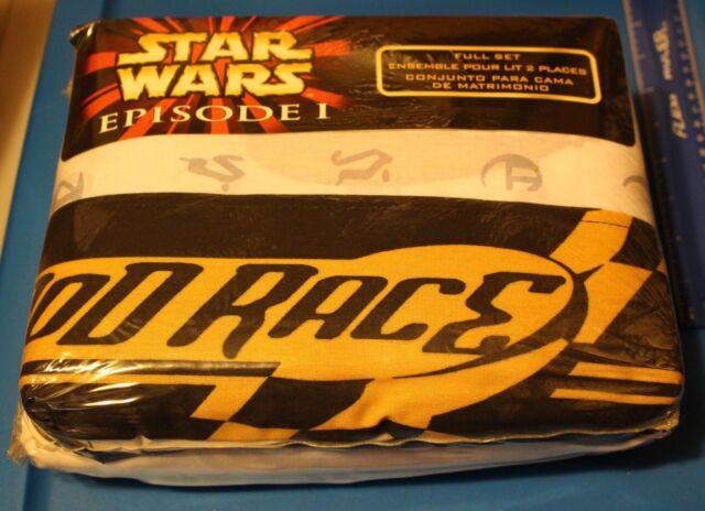 Star Wars Episode I POD RACE FULL SHEET SET NEW