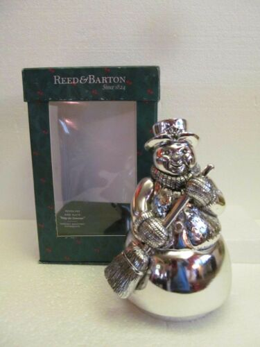 Reed and Barton Revolving Music Box Frosty the Snowman Silverplate Christmas