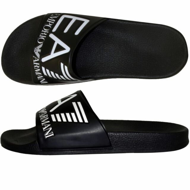 a9d9d1225 EMPORIO ARMANI MEN S SEA WORLD SLIDERS EA7 SANDALS FLIP FLOPS GYM SAUNA POOL