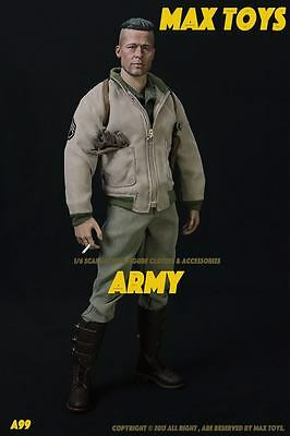 *New* Max Toys 1/6 A99 Army Clothing w/ Headsculpt Brad Pitt Fury *US Seller*
