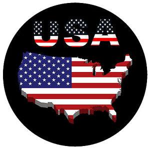 USA MAP / FLAG - ROUND SOUVENIR NOVELTY FRIDGE MAGNET - BRAND NEW ...