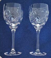 Royal Doulton Crystal VICTORIA Water Goblets Vintage Set of 2 Glasses Signed