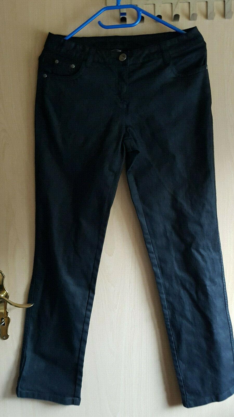 ❤️ CECILIA CLASSIC❤️Hose Schwarz Gr. 38/40 ❤️ NEU Stretch 5 Pocket Style sh.Maße