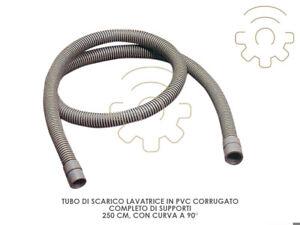 Tubo-scarico-lavatrice-Pvc-corrugato-curva-90-supporti-lunghezza-250-cm-lavatri