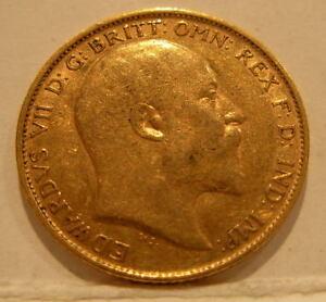 Australie 1908m Or 1/2 Souverain Distribué Iqjmfe43-07224054-841699475