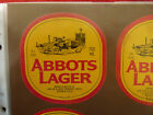 VINTAGE AUSTRALIAN BEER LABEL. CARLTON & UNITED - ABBOTS LAGER 750ML 55D