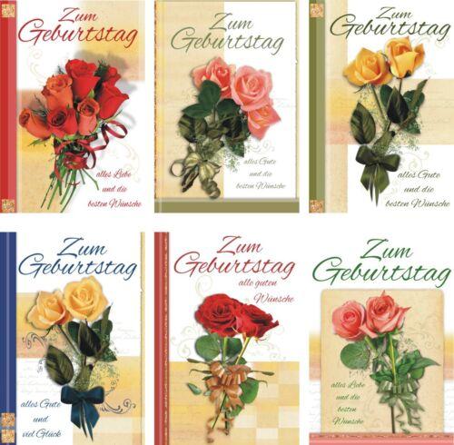 50//100 Geburtstagskarten Rosen Karten Glückwunschkarten Geburtstag 511-9800 A