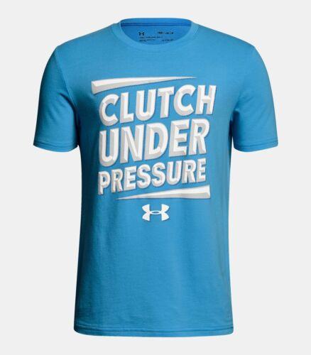Under Armour Clutch Under Pressure tee shirt NWT UPICK boys/' S M blue