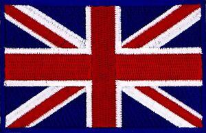 UK FLAG PATCH UNION JACK UNION FLAG UNITED KINGDOM PATCH EMBROIDERED