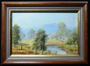 Superb-Original-Art-Miniature-Oil-Painting-Thornton-Yorkshire-Signed-1990