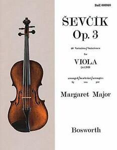 Sevcik for Viola Opus 3 40 Variations NEW 014029832
