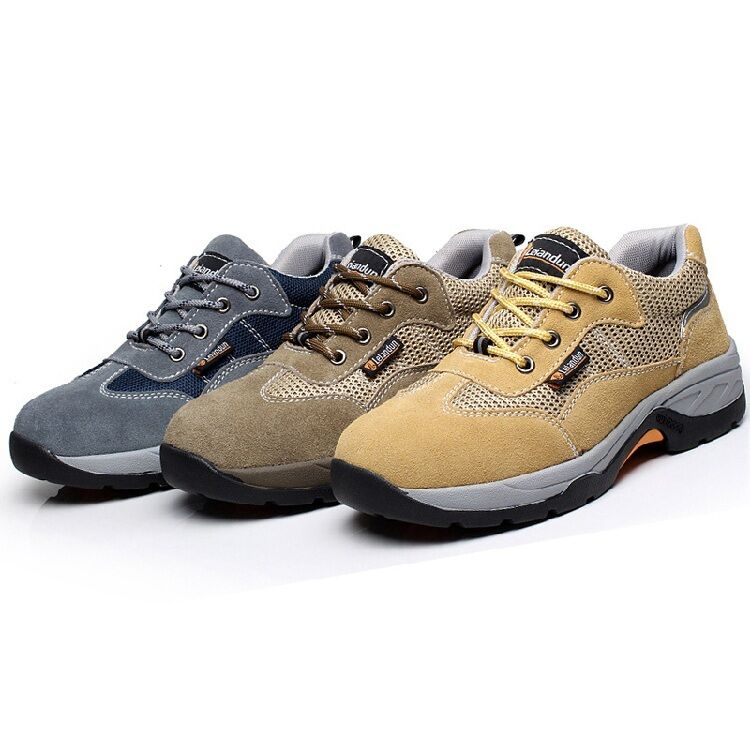 Mens Safty Shoes Breathable Casual Hiking Lace Up Climbing Sneaker Work Boots