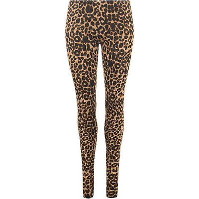 New Plus Size Womens Animal Leopard Print Leggings Ladies Full Length 12 - 26