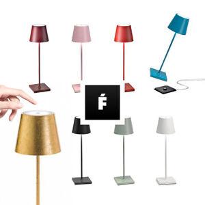 Lampada Poldina PRO Zafferano -ricaricabile-int/ext-dimmerabile-vari colori