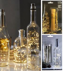 LED-Flaschenbeleuchtung-Korken-gold-silber-Lichterkette-Batteriebetrieb-Timer
