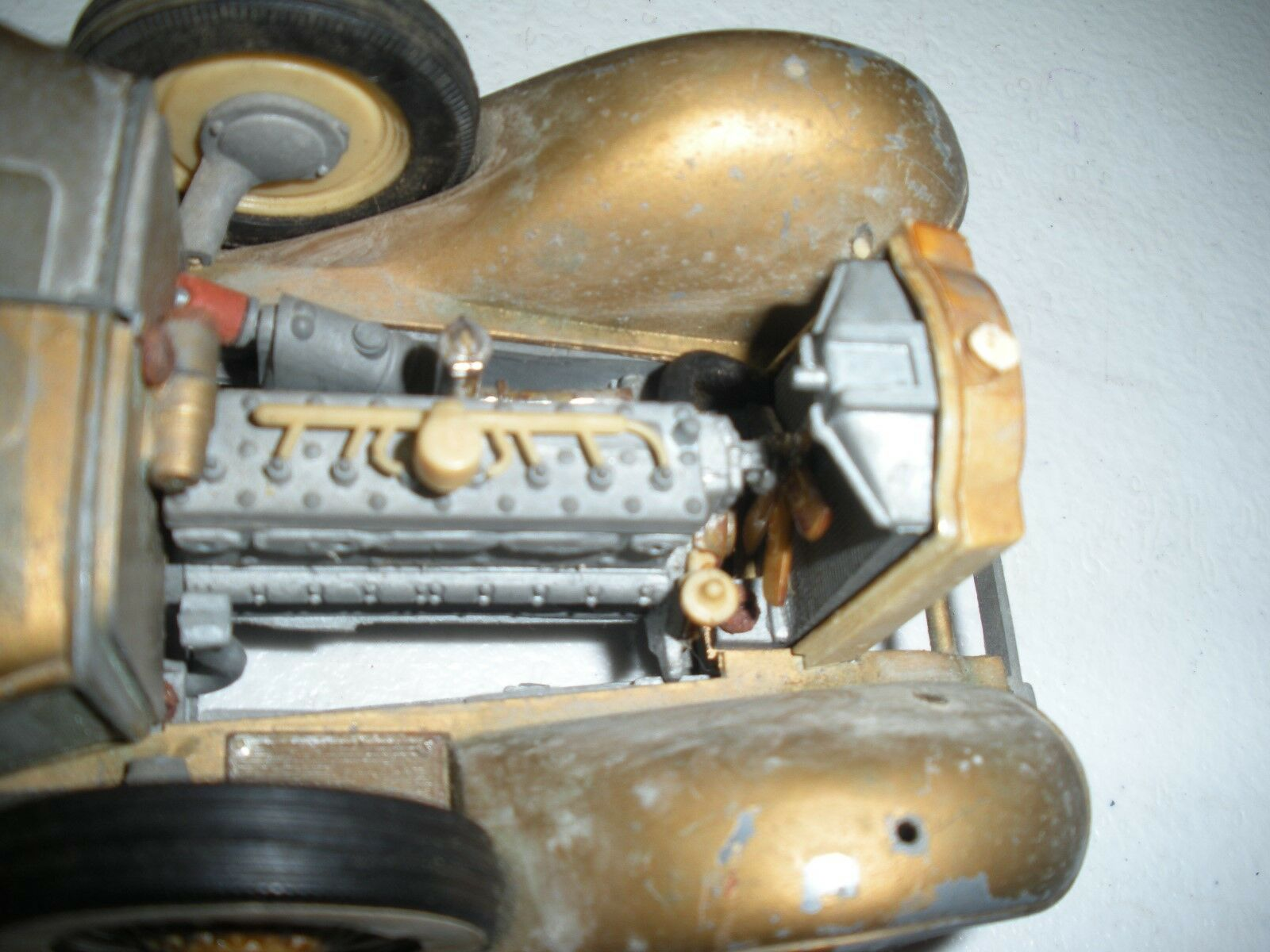 Hubley Touring Car gold metal Body 9  Long    Made In U.S.A. Nice Lancaster P.A, d4e23b