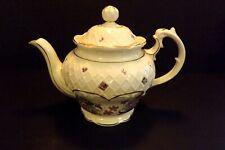 Vintage Crown Dorset Staffordshire English Fine Bone China Purple Violets Teapot