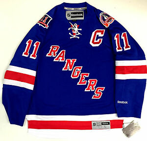 newest 9e700 e22ec Details about MARK MESSIER NEW YORK RANGERS 1994 CUP MESSIER PATCH REEBOK  NHL PREMIER JERSEY