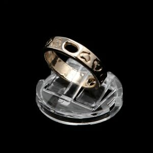 Clear-Ring-Finger-Display-Stand-Holder-Jewelry-Tray-Ring-Plastic-Showcase
