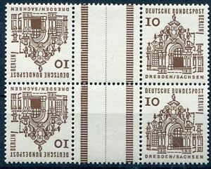 Berlin-ZD-Mi-Nr-KZ-4-242-Paar-10-Dt-Bauwerke-a-12-JH-I-Postfrisch-1964