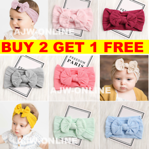 Baby Girls Bunny Bows Turban Knot Rabbit Headband Bow Hair bands Head wrap Cute
