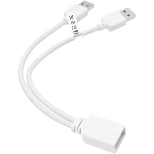USB 2.0 White Female A to A Male Power Data Y Cable extension HDD 2.5 3.5