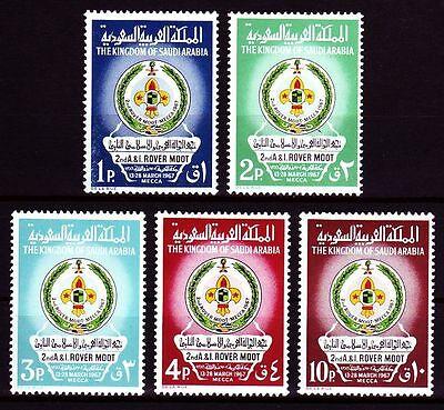 Mittlerer Osten Saudi Arabia 1967 ** Mi.384/88 Pfadfinder Scouts Scouting Die Neueste Mode