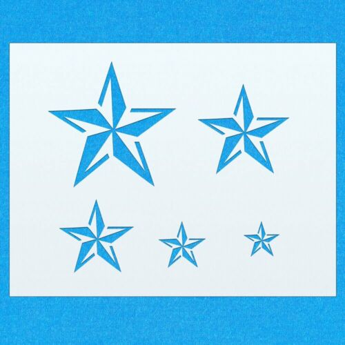 Antique Stars Vintage Shabby Chic Mylar Painting Wall Art Furniture Stencil