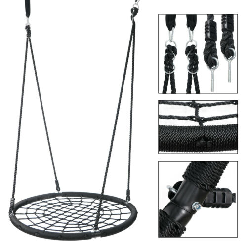 """48"""" Spider Web Tree Net+ Metal A-Frame Swing Set Children Backyard Playgrounds Outdoor Toys & Structures"""