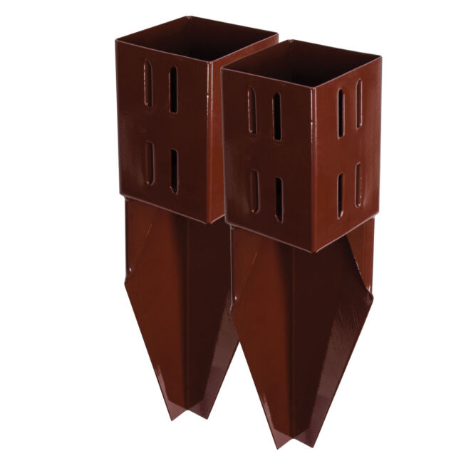X2 4 Inch Spike Wedge Grip Fence Post Supports 100mm Timber Holder Repair  Spikes