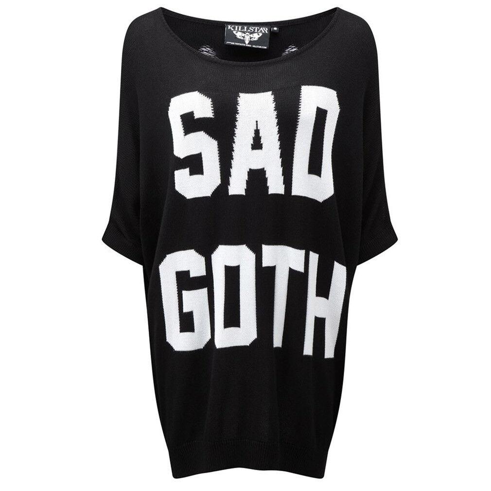 Kill Star Gothic occulta occulta occulta Pullover Pullover A Maglia-Sad Goth SHREDDED trasversali a10126