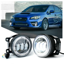 Xprite 4 60w Cree Led Fog Lights With White Halo Drl For 2012 2018 Subaru Wrxsti