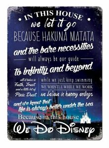 Details about Hakuna Matata Lion King Quote toy Disney inspired Metal  plaque Wall Poster SIGN